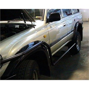 Side rail installation on a Toyota Landcruiser