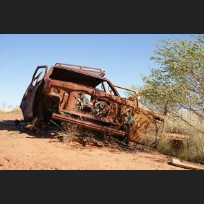 A lesson for outback travellers - The burnt Ford Exploder