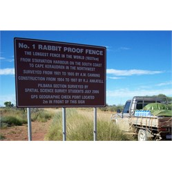 Rabbit Proof Fence Marker