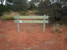 Mangkili Claypan Nature Reserve Sign