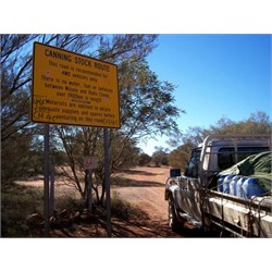 Sign at turnoff to Canning Stock Route