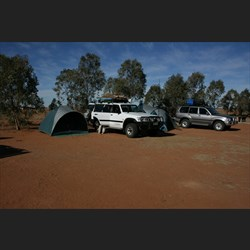William Creek camping ground.