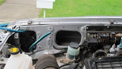 Engine Bay with Filter box out and pump fitted