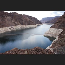 View of Colorado River at upper Hoover Dam