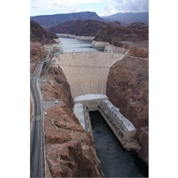 Hoover Dam from view over new bridge
