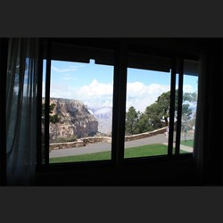 View from our room over Grand Canyon