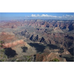 View from south rim over Grand Canyon