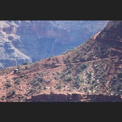 View of where we walked on ridge line on Sth Kaibab trail