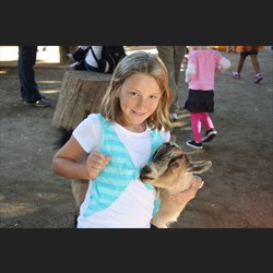 Leah at the petting farm