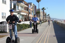 Sedgeways for hire along Misson Beach boardwalk