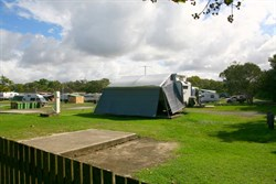 The Caravan Park at Dicky Beach