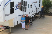 Avril and Charles and their Home on Wheels