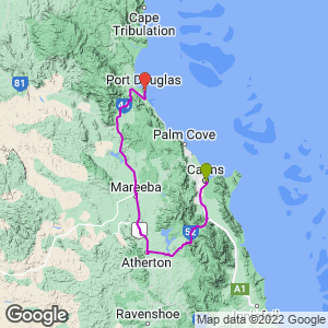 Cairns to  Mareeba to Mount Molloy to Port Douglas