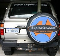 ExplorOz Vehicle Gear Wheel Covers, Spare Wheel Cover - Size 009 - 820mm