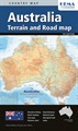 Australia Terrain and Road Map