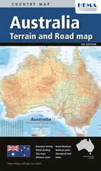 Hema Maps Australia, Australia Terrain and Road Map
