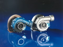 Old and Repaired Turbocharger